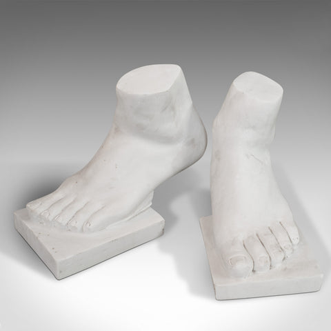 'Strictly 2 Left Feet' Pair Of, Vintage, Ornament, Bookends, Marble, Decorative
