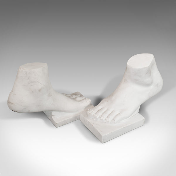 'Strictly 2 Left Feet' Pair Of, Vintage, Ornament, Bookends, Marble, Decorative - London Fine Antiques