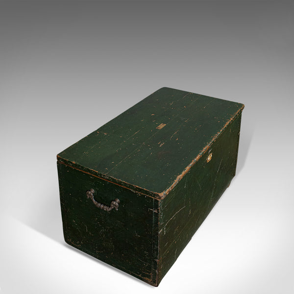Antique Mail Trunk, English, Pine, Steamer, Carriage Chest, Edwardian, C.1905 - London Fine Antiques