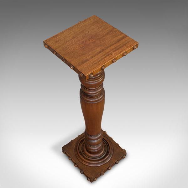 Vintage Torchere, English, Mahogany, Lamp, Plant, Stand, 20th Century, C.1970