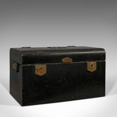 Vintage Deed Box, English, Art Deco, Iron, Document, Deposit, Chest, Circa 1930 - London Fine Antiques