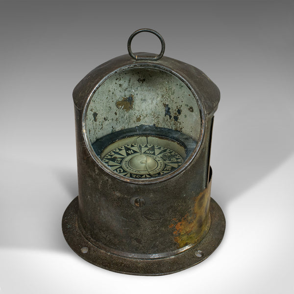 Vintage Binnacle Compass, English, Brass, Maritime, Navigation, Instrument - London Fine Antiques