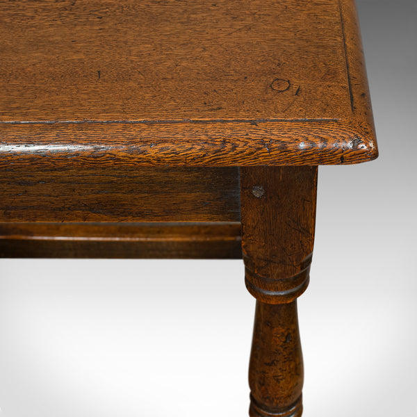 Antique Tea Table, English, Oak, Joint Stool, Coffee, Victorian, Circa 1900 - London Fine Antiques