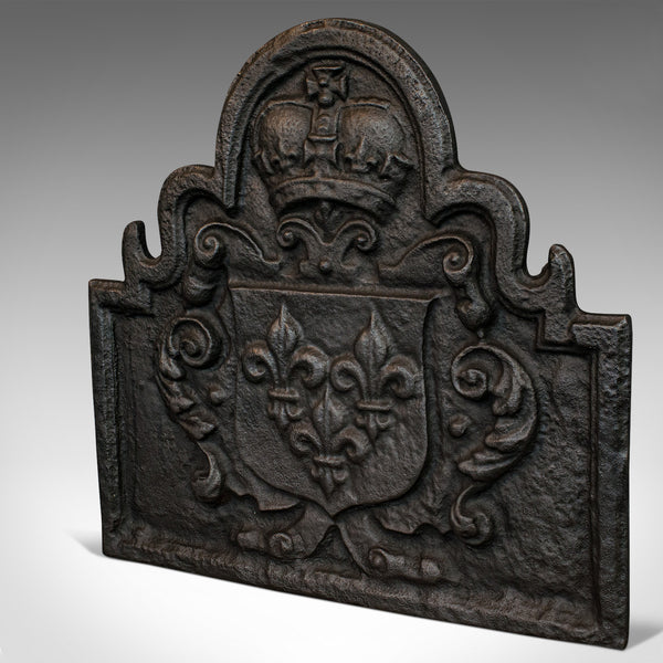 Antique Fire Back, English, Cast Iron, Fireplace, Reflector, Victorian, 1880 - London Fine Antiques