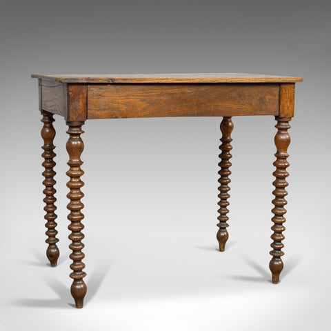 Antique Side Table, English, Oak, Desk, Occasional, Georgian, Circa 1780 - London Fine Antiques