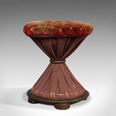 Antique Upholstered Stool, English, Walnut, Footstool, Tabouret, Regency, 1820 - London Fine Antiques