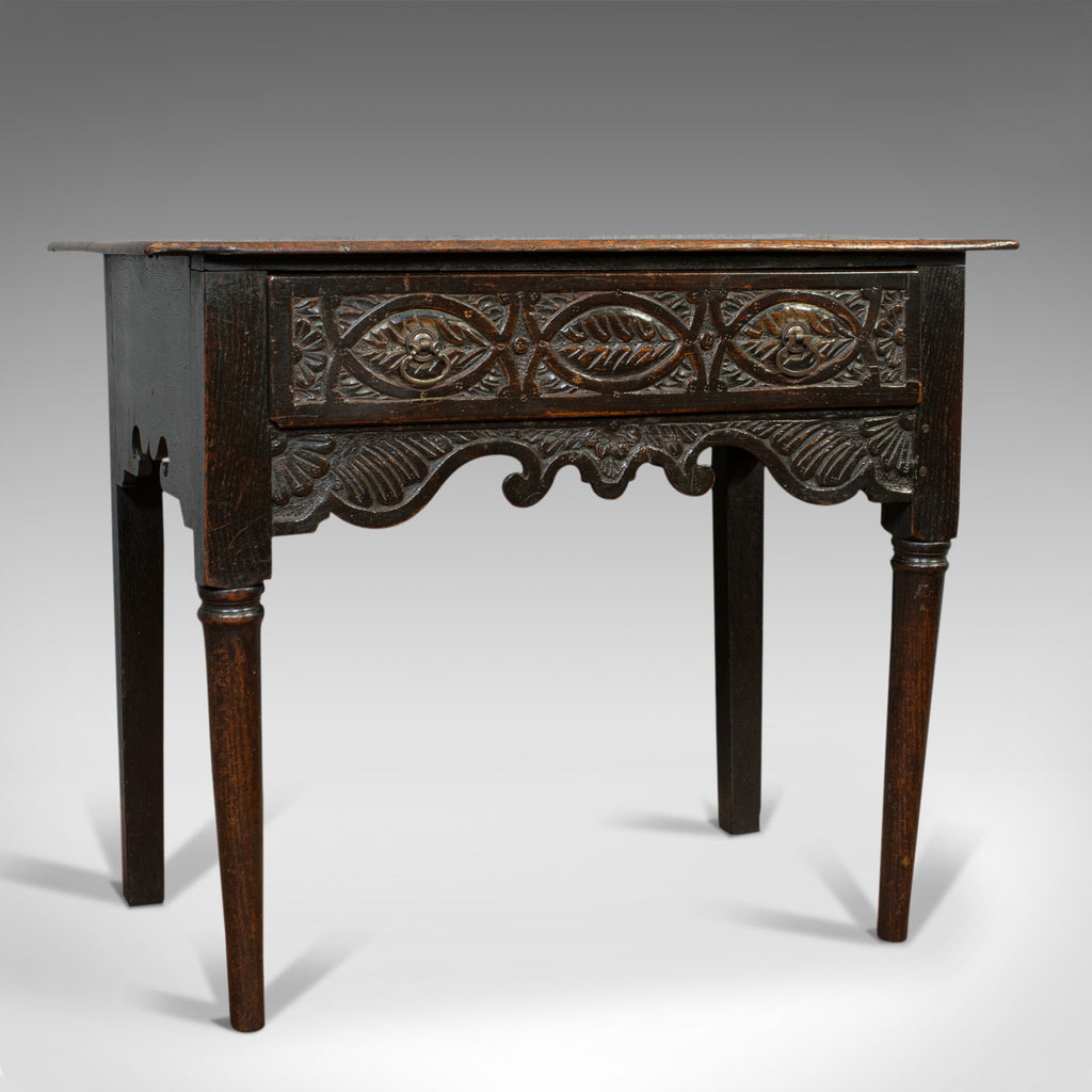 Antique Lowboy, Scottish, Oak, Occasional, Side Table, Georgian, Circa 1760 - London Fine Antiques