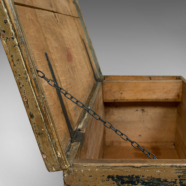 Antique Ship's Chest, English, Pine, Merchant, Tool Trunk, Victorian, Circa 1850 - London Fine Antiques