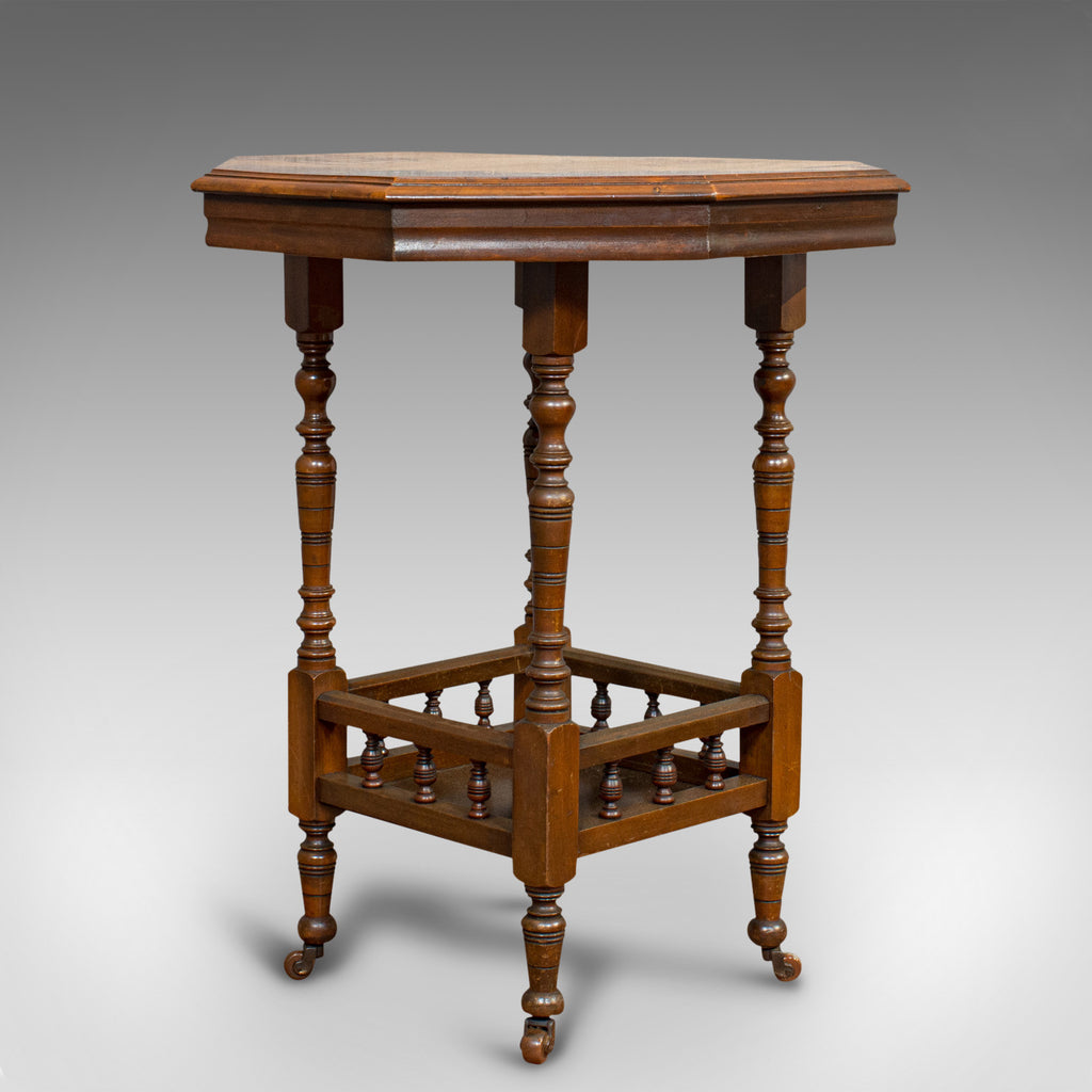 Antique Lamp Table, English, Walnut, Octagonal, Side, Games, Edwardian, C.1910 - London Fine Antiques