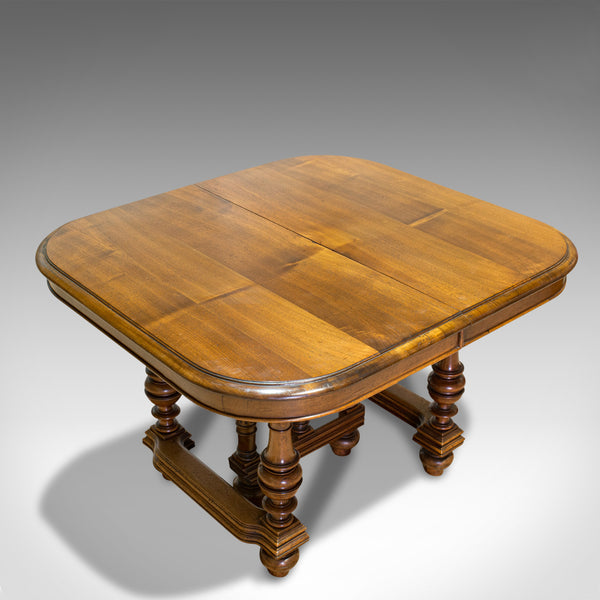 Large Antique Extending Dining Table, French, Walnut, Seats 4-10, Circa 1900 - London Fine Antiques