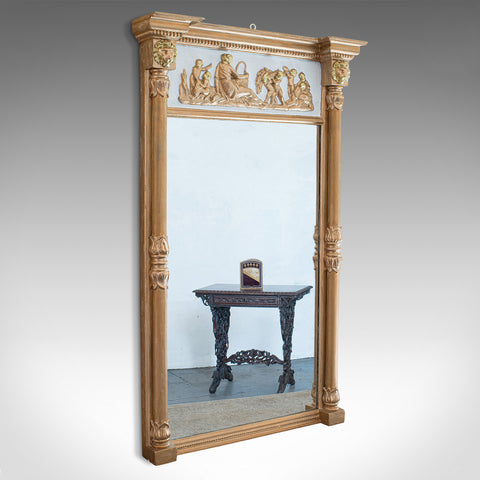 Antique Pier Mirror, English, Gilt Gesso, Classical Taste, Regency, Circa 1820
