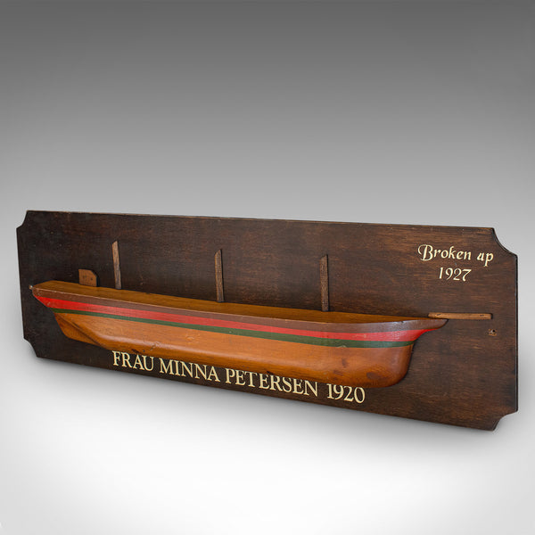 Vintage Half Hull Plaque, Pine, Decorative, Maritime, Schooner, Model, C.1930 - London Fine Antiques