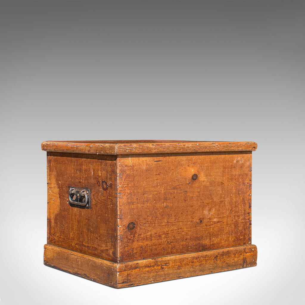 Antique Carriage Chest, English, Blanket Trunk, 19th Century, Circa 1850 - London Fine Antiques