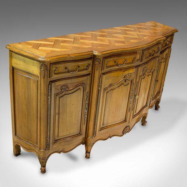Vintage Bow-Front Dresser, French, Walnut, Provincial, Sideboard, Circa 1930 - London Fine Antiques
