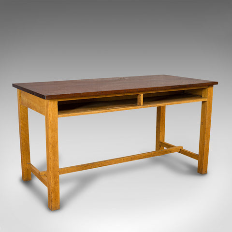 Vintage Lab Table, English, Teak, Oak, Kitchen, Dining, J&J Siddons, Circa 1960