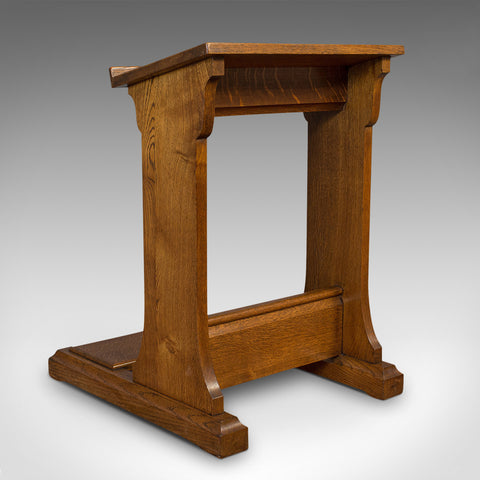 Antique Lectern, English, Oak, Ecclesiastical, Book Rest, Prie Dieu, Victorian