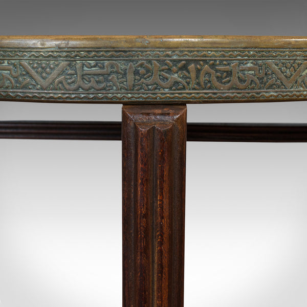 Antique Berber Table, Oriental, Brass, Art Deco, Lamp, Occasional, Circa 1930 - London Fine Antiques