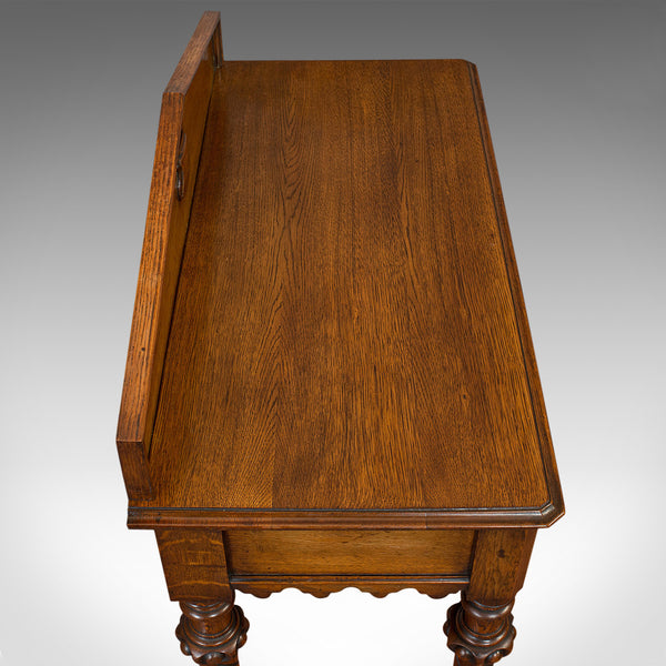 Antique Hall Table, Scottish, Oak, Victorian Gothic, Side, Dresser, Circa 1860