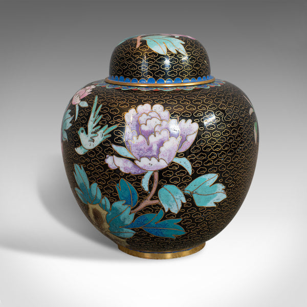 Antique Ginger Jar, Oriental, Cloisonne, Decorative, Spice Urn, Victorian, 1900 - London Fine Antiques