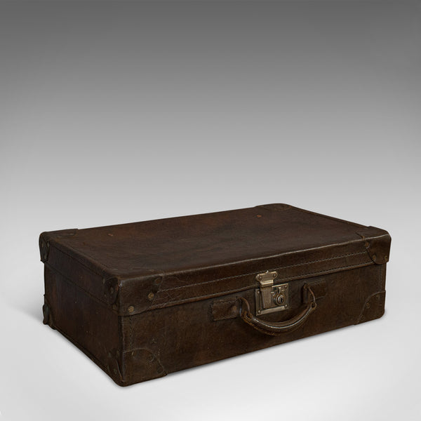 Antique Officer's Case, English, Leather, Travel, Suitcase, 20th Century, C.1920 - London Fine Antiques