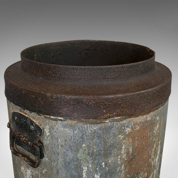 Antique Industrial Fireside Bin, English, Fire Bucket, Coal, Logs, Victorian - London Fine Antiques
