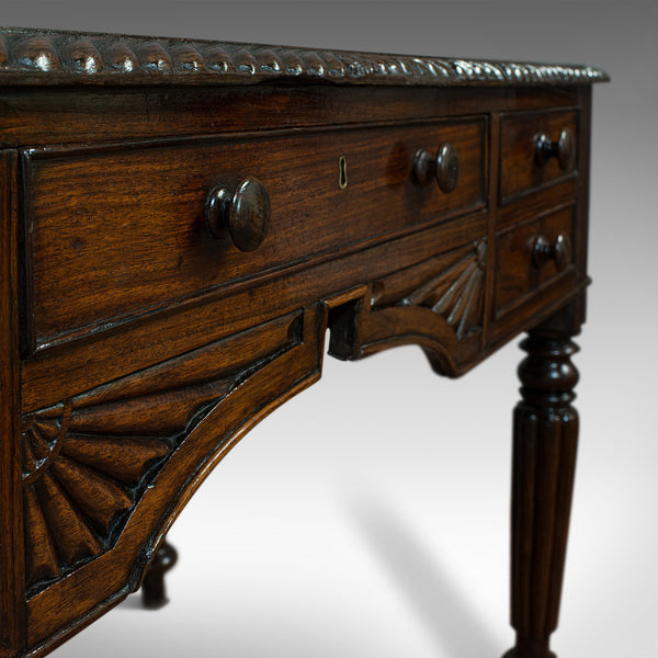 Antique Writing Desk, English, Rosewood, Study, Side, Table, Regency, Circa 1820