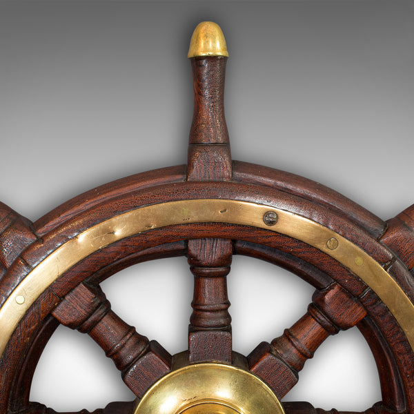 Antique Original Ship's Wheel, English, Oak, Maritime, Collectable, Victorian