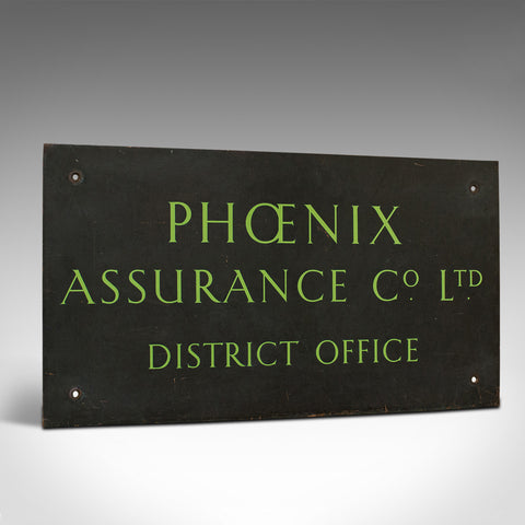 Vintage Commercial Sign, English, Bronze, Sign-Written, Name Plaque, Circa 1950