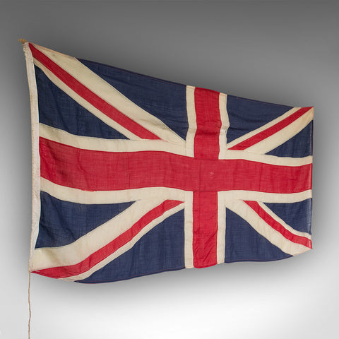 "Large 7' 4"" Vintage Union Jack, English, Cotton, Flag, UK, Great Britain, 1945"