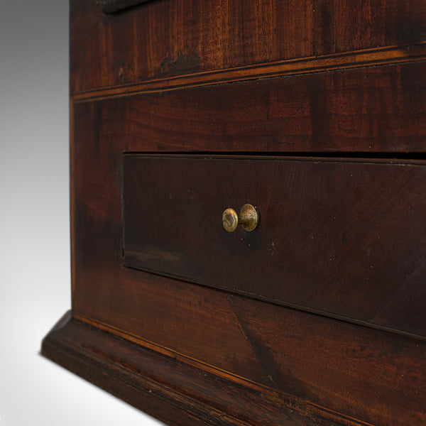 Antique Corner Cabinet, English, Oak, Mahogany, Wall Hanging, Georgian, C.1800