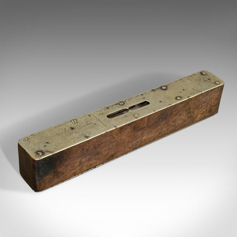 Vintage Spirit Level, English, Rosewood, Craftsman's Instrument, Circa 1950