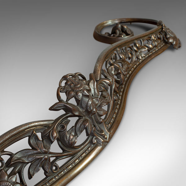 Antique Art Nouveau Fire Kerb, French, Cast Iron, Fireside Surround, Circa 1920