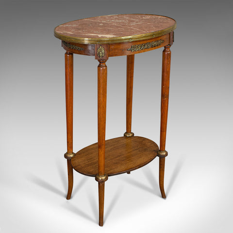 Antique Oval Occasional Table, French, Beech, Etagere, Plant Stand, Circa 1900