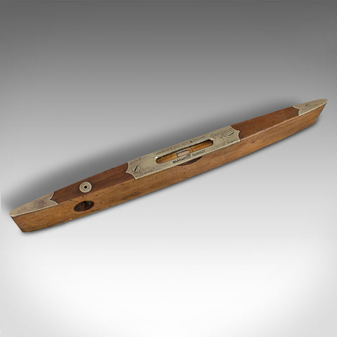 Antique Boat Spirit Level, English, Walnut, Brass, Torpedo, Instrument, Rabone