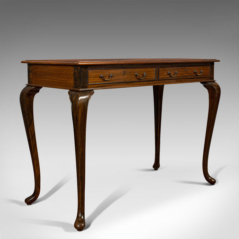 Vintage Writing Desk, English, Rosewood, Side, Occasional, Table, Circa 1950