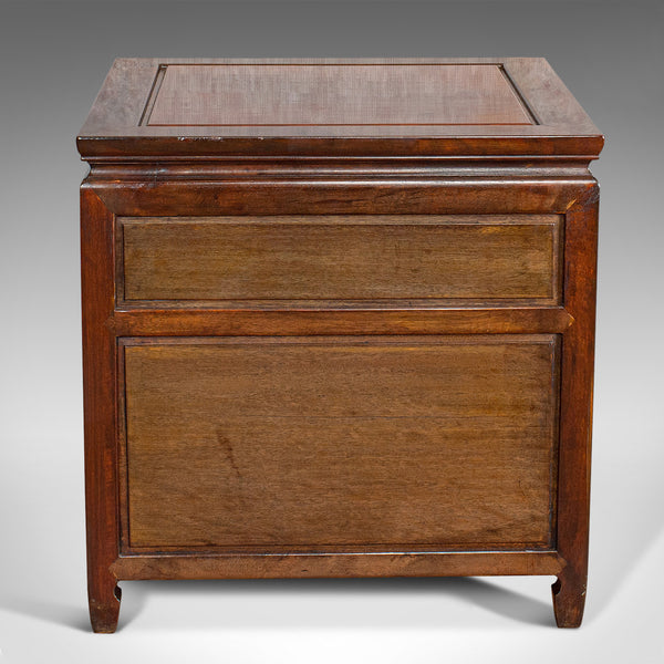 Vintage Bedside Cabinet, Asian, Teak, Low Side Stand, 20th Century, Circa 1990