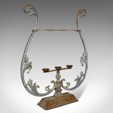 Vintage Outdoor Stand, French, Cast Iron, Planter, Stick, Art Nouveau, C.1950