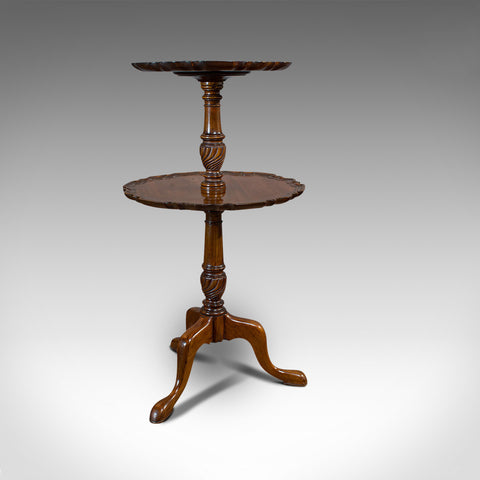 Antique Whatnot Stand, Two Tier Dumb Waiter, Tea Table, Victorian, 1900