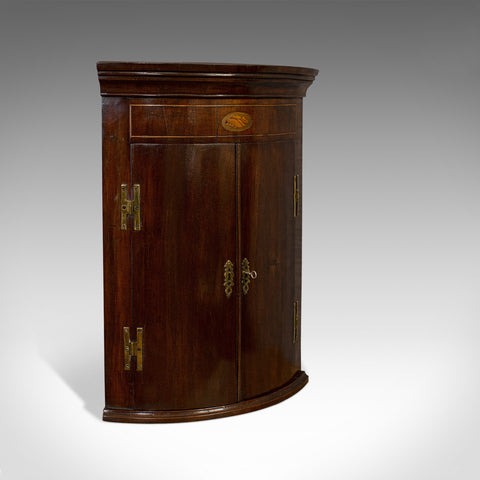 Petite Antique Corner Cabinet, English, Mahogany, Georgian Revival, Victorian