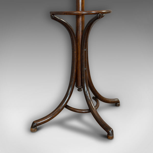 Antique Half Round Hall Stand, French, Bentwood, Coat Rack, Thonet-esque, 1910