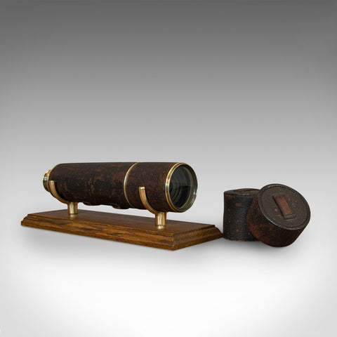 Antique Hughes Telescope, English, 5 Draw, Terrestrial, Astronomical, Regency