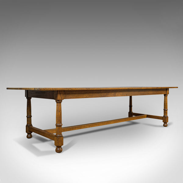 Large, Antique Refectory Table, Scottish, 8 Seat, Oak, Dining, Victorian, C.1870
