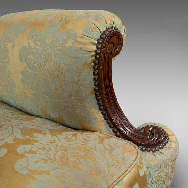 Antique Wing-Back Arm Chair, English, Lounge, Fireside, Seat, Edwardian, C.1910