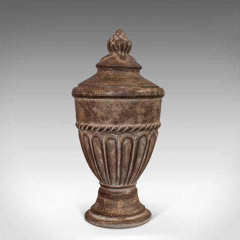 Vintage Urn, English, Terracotta, Decorative, Garden, Fireside, Ornament, C.1980