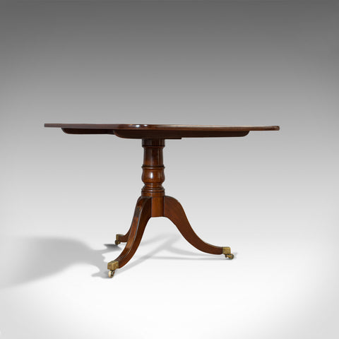 Antique Breakfast Table, English, Mahogany, Tilt Top, Dining, Regency, C.1820