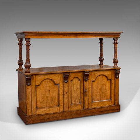 Large Antique Buffet, English, Walnut, Server, Sideboard, William IV, Circa 1830