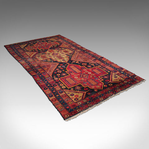 Vintage Shiraz Decorative Rug, Persian, Woven, Hall, Lounge Carpet, Circa 1940