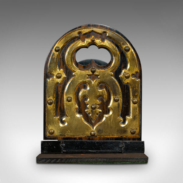 Antique Extending Book Slide, Coromandel, Bookend, Rack, Victorian, Circa 1880