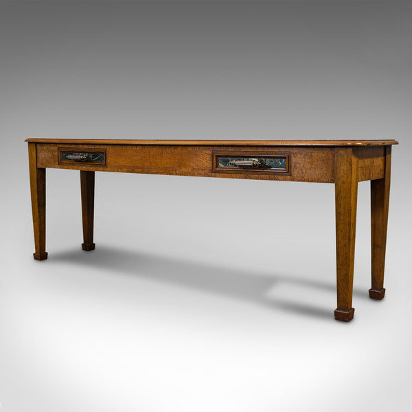 Antique Console Table, Large, Scottish, Walnut, Desk, J & T Scott, Victorian