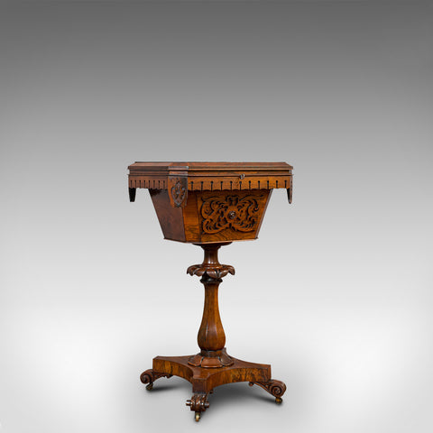 Antique Lady's Work Box, English, Rosewood, Sewing, Table, Regency, Circa 1820